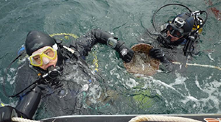 L'AREPMAREF pour ses recherches sub-aquatiques sur le patrimoine des pertuis.