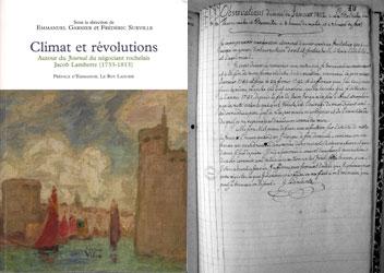 Frédéric Surville pour Climat et révolutions. Ed. Croît vif