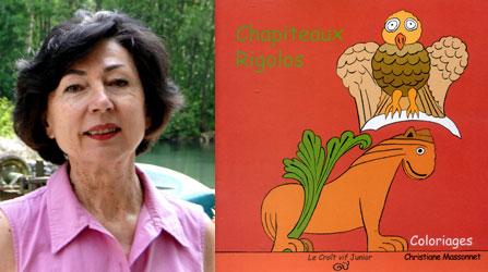 Christiane Massonnet pour ses albums de coloriage sur l'art roman saintongeais
