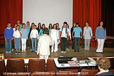ICILABA, chœur d'enfants et d'adolescents de la ville de Saintes pour leur action