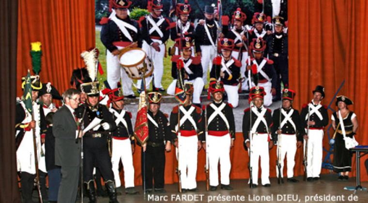 Daniel Dieu et l'association «Le Garde Chauvin» pour «Le Garde CHAUVIN, reconstitution historique napoléonienne»