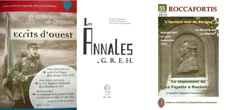 Trois associations historiques et leurs revues
