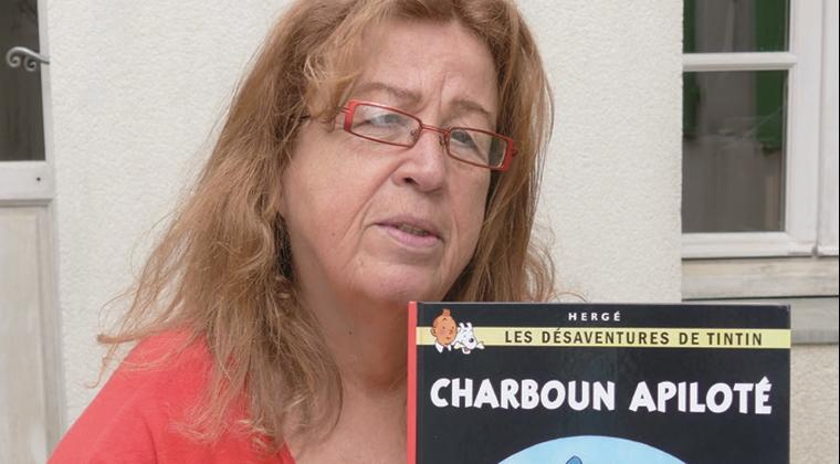 Maryse Guedeau, pour les albums « Tintin » en saintongeais